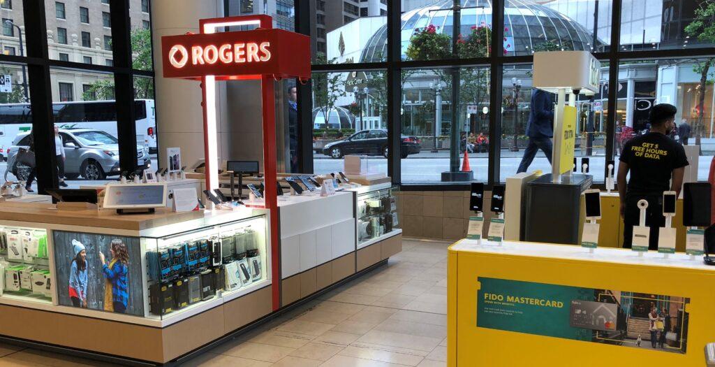 Rogers/Fido Kiosk - Vancouver, B.C.